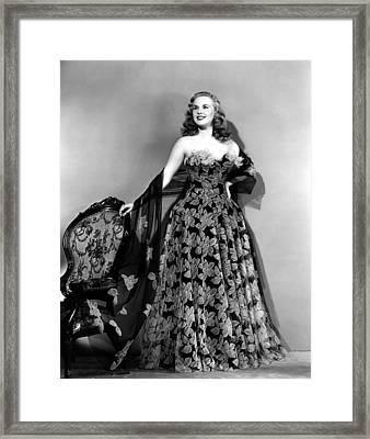 Deanna Durbin In Hoop Skirt Styled Lace Framed Print by Everett
