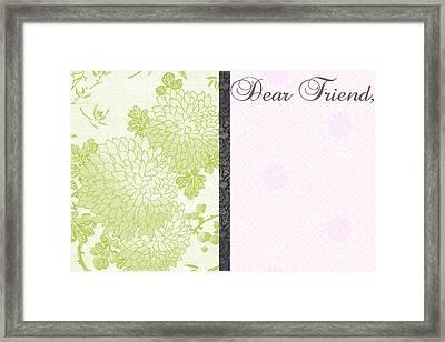 Dear Friend 2 Framed Print by Dana Vogel
