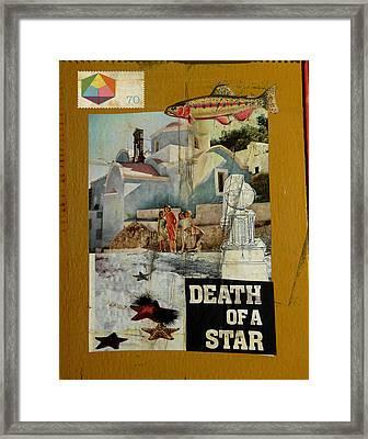 Death Of A Star Framed Print by Adam Kissel