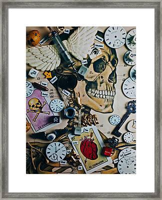 Death Skull Framed Print by Garry Gay