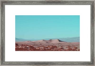 Death Valley Dunes 2 Framed Print by Naxart Studio