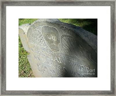 Death With Wings Framed Print by First Star Art
