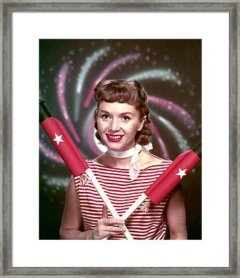 Debbie Reynolds, 1950s Framed Print by Everett