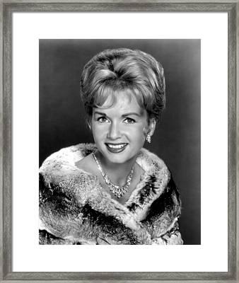 Debbie Reynolds In The 1960s Framed Print by Everett