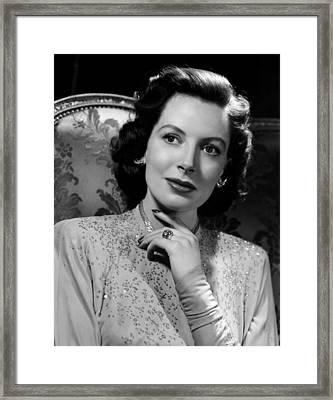 Deborah Kerr, 1948 Framed Print by Everett