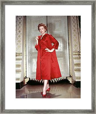 Deborah Kerr, 1956 Framed Print by Everett