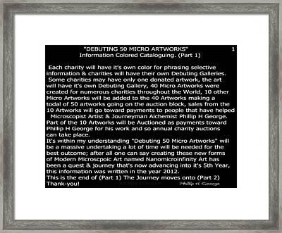 Debuting 50 Micro Artworks Part 1  Framed Print by Phillip H George