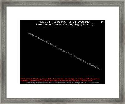Debuting 50 Micro Artworks Part 14 Framed Print by Phillip H George