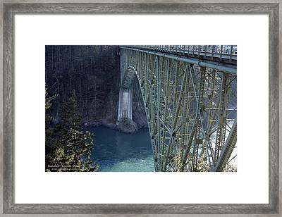 Deception Pass Bridge South Span Framed Print by Randall Thomas Stone