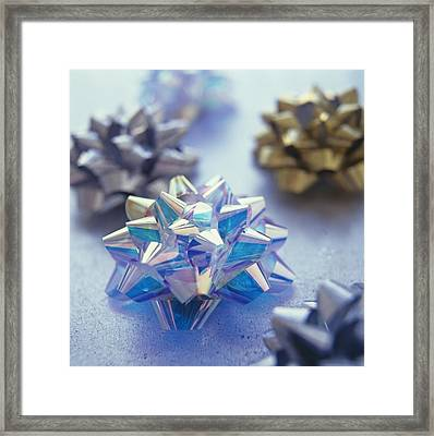 Decorative Ribbons Framed Print by David Munns