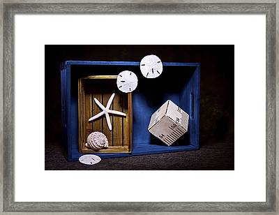 Deep Blue Sea Still Life Framed Print by Tom Mc Nemar