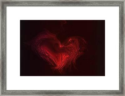 Deep Hearted Framed Print by Linda Sannuti
