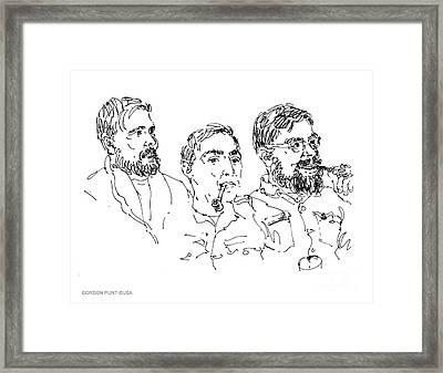 Deepfreeze-s.pole-art3 Framed Print by Gordon Punt