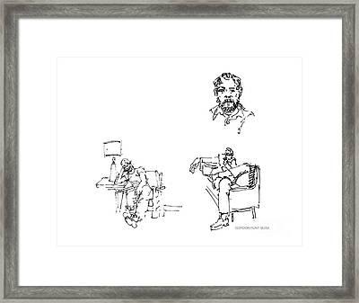 Deepfreeze-s.pole-art4 Framed Print by Gordon Punt