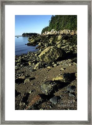 Deer Isle And Barred Island Framed Print by Thomas R Fletcher