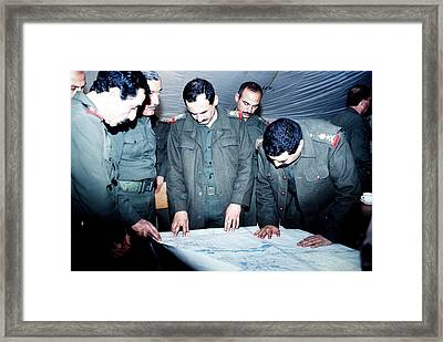 Defeated Iraqi Officers Reveal Framed Print by Everett