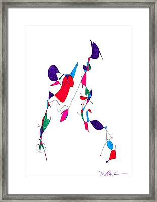 Definsm Design 17 Framed Print by Darrell Black