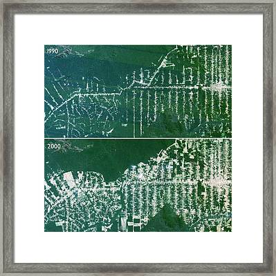 Deforestation In The Amazon Framed Print by Planetobserver