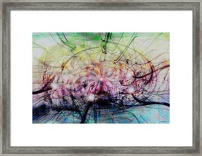 Deform To Form A Star Framed Print by Linda Sannuti