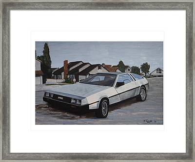 Delorean Framed Print by Nate Geare