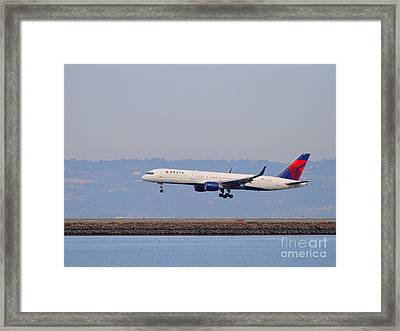 Delta Airlines Jet Airplane At San Francisco International Airport Sfo . 7d12183 Framed Print by Wingsdomain Art and Photography