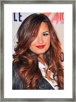 Demi Lovato In Attendance For Z100 Framed Print by Everett