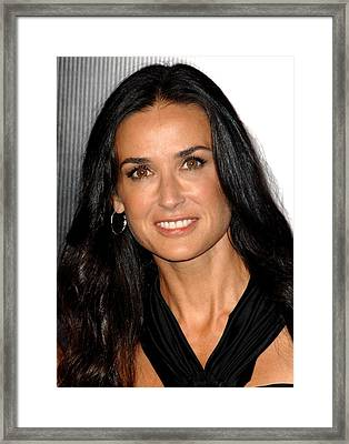 Demi Moore At Arrivals For Rodeo Drive Framed Print by Everett