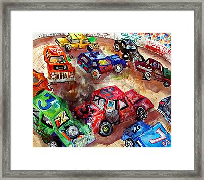Demo Derby One Framed Print by Jame Hayes