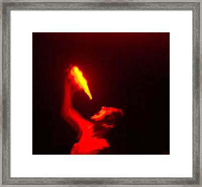 Demon Drinking Molten Lead Framed Print by Douglas Barnett