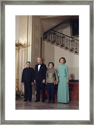 Deng Xiaoping Jimmy Carter Madame Zhuo Framed Print by Everett