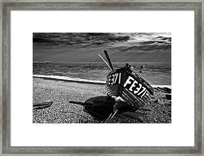 Denise And The Pier Framed Print by Meirion Matthias