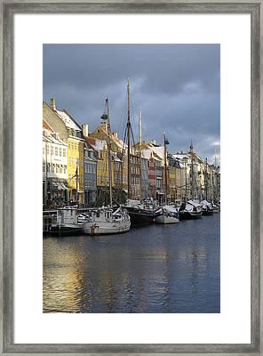Denmark, Copenhagen, Nyhavn, Boats Framed Print by Keenpress