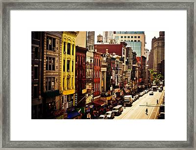 Density - Above Chinatown - New York City Framed Print by Vivienne Gucwa