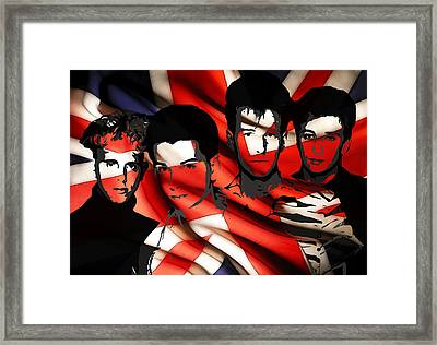 Depeche Mode 80s Heros Framed Print by Steve K