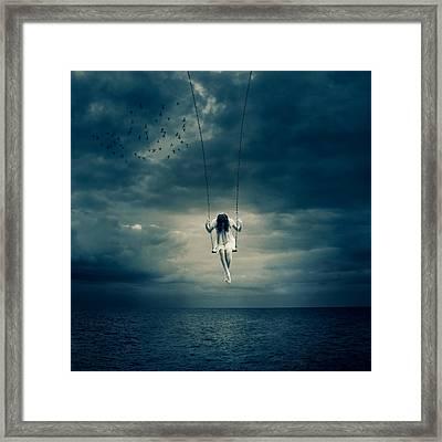 Depressed Framed Print by Ian Barber