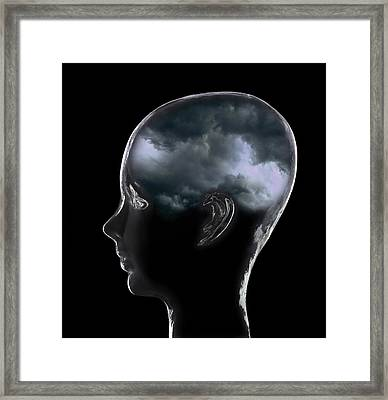 Depression, Conceptual Image Framed Print by Mark Sykes