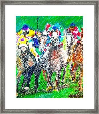 Derby Framed Print by Rom Galicia
