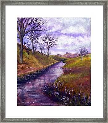Derbyshire Brook Framed Print by Ann Marie Bone