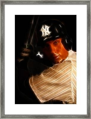 Derek Jeter - New York Yankees - Baseball  Framed Print by Lee Dos Santos