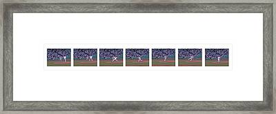 Derek Lowe Pitching Motion Framed Print by David Bearden