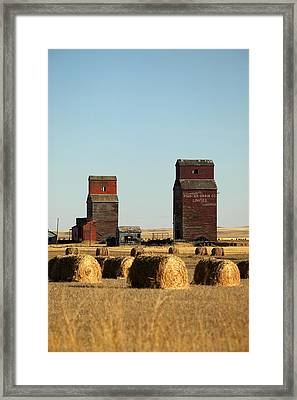 Derelict Grain Elevators Stand Framed Print by Pete Ryan
