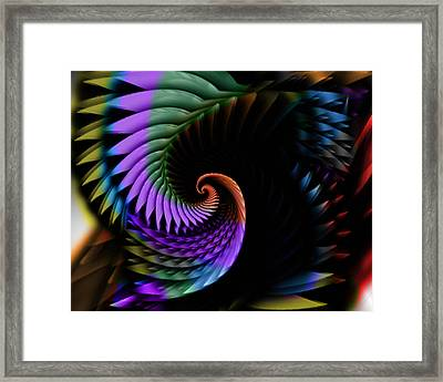 Descending Flight Framed Print by Anthony Caruso