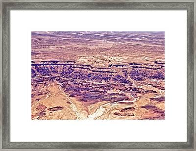 Desert Crater Framed Print by Jenn Bodro