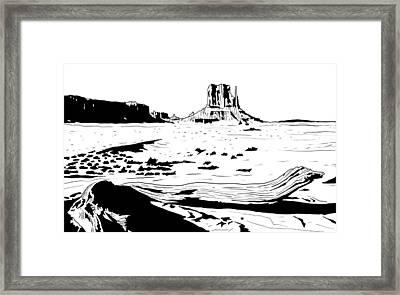 Desert Framed Print by Giuseppe Cristiano