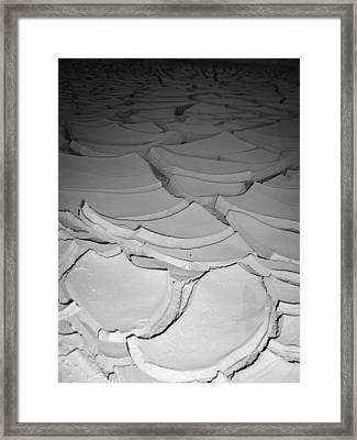 Desert Lake Framed Print by Naxart Studio
