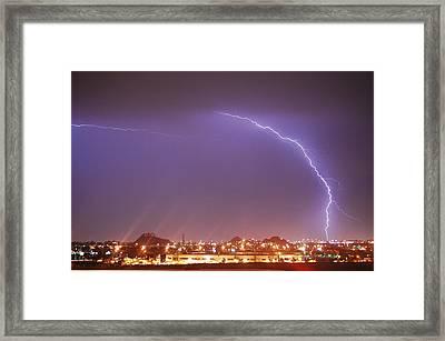 Desert Lightning Framed Print by Jennifer Nixon