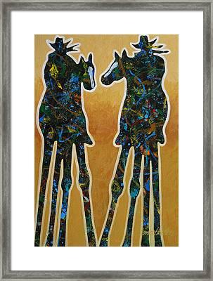 Desert Riders Framed Print by Lance Headlee