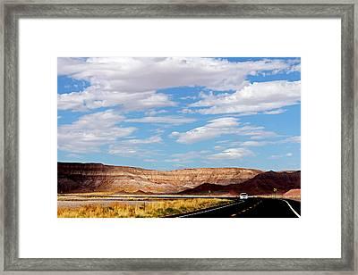 Desert Road Framed Print by Cedric Darrigrand