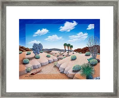 Desert Vista 2 Framed Print by Snake Jagger