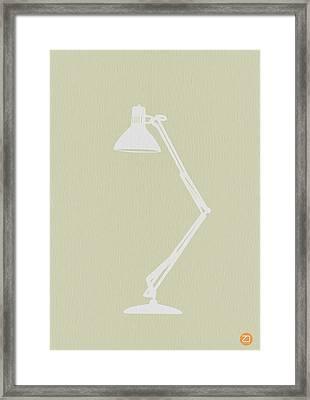 Desk Lamp Framed Print by Naxart Studio